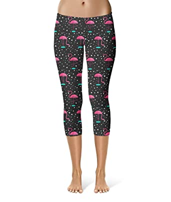 c43c1f9cb7b81d Queen of Cases Pink Flamingos Sport Leggings - Capri Length, Mid/High  Waist: Amazon.co.uk: Clothing