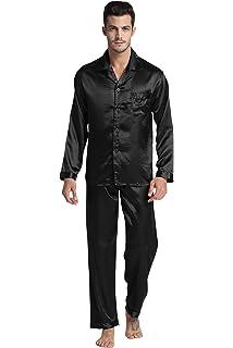 9ce78e68 Mens Silk Satin Pajamas Set S M L XL 2XL 3XL 4XL at Amazon Men's ...
