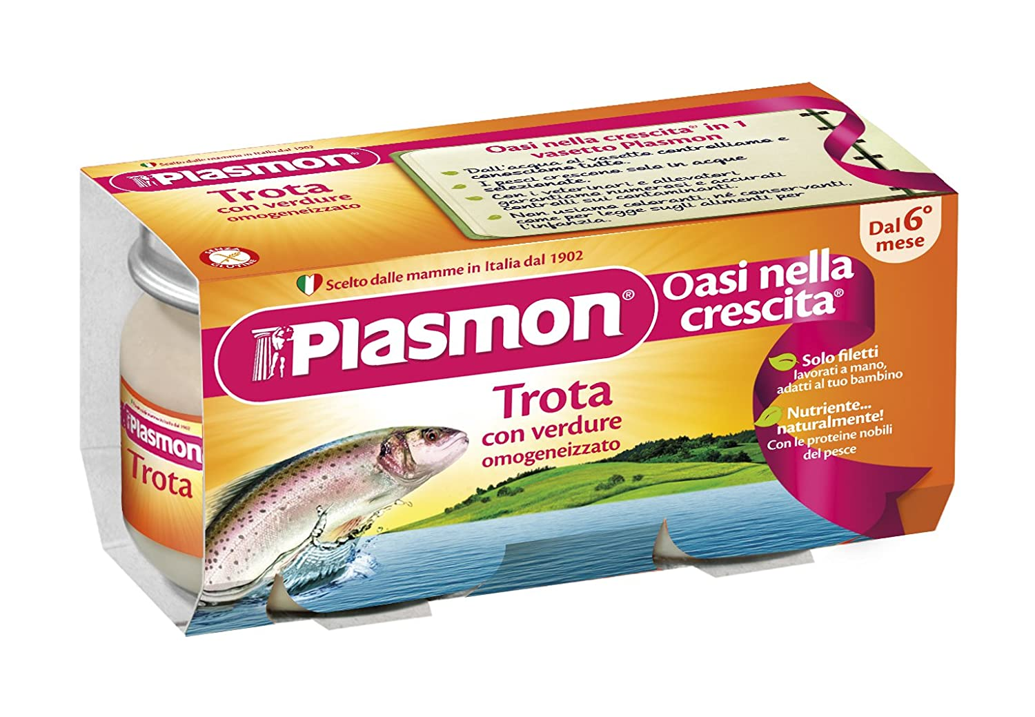 Plasmon Trout fillet with Vegetables Meal Puree (2x80g)