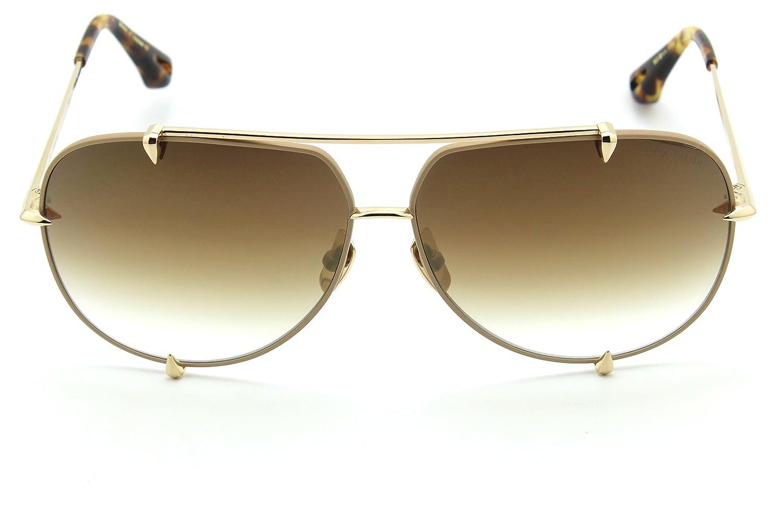 8e9e6a7224e6 Dita 23007-C TALON Unisex Aviator Titanium Sunglasses 12K Gold  Amazon.co.uk   Clothing