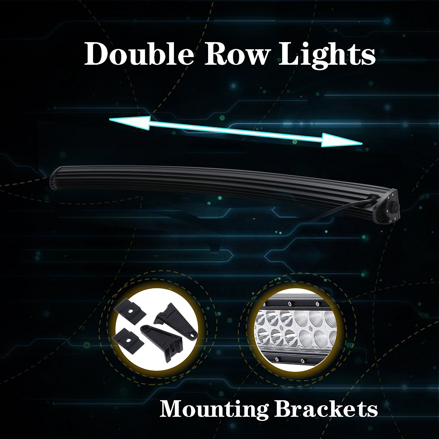 32inch Offroad Curved Dual Row Led Light Bar Fit For Dodge