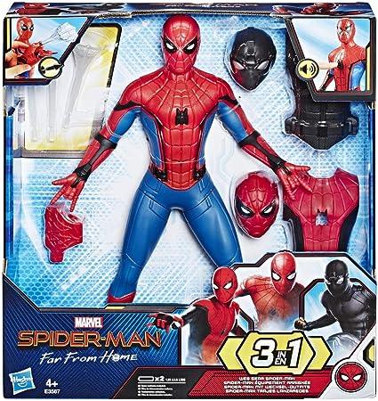 Figura de acción 3 en 1 de Spiderman con trajes arácnidos: cambia estilos arácnidos con esta figura