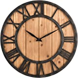 barnwood tan wall clock available in 8 sizes. Black Bedroom Furniture Sets. Home Design Ideas