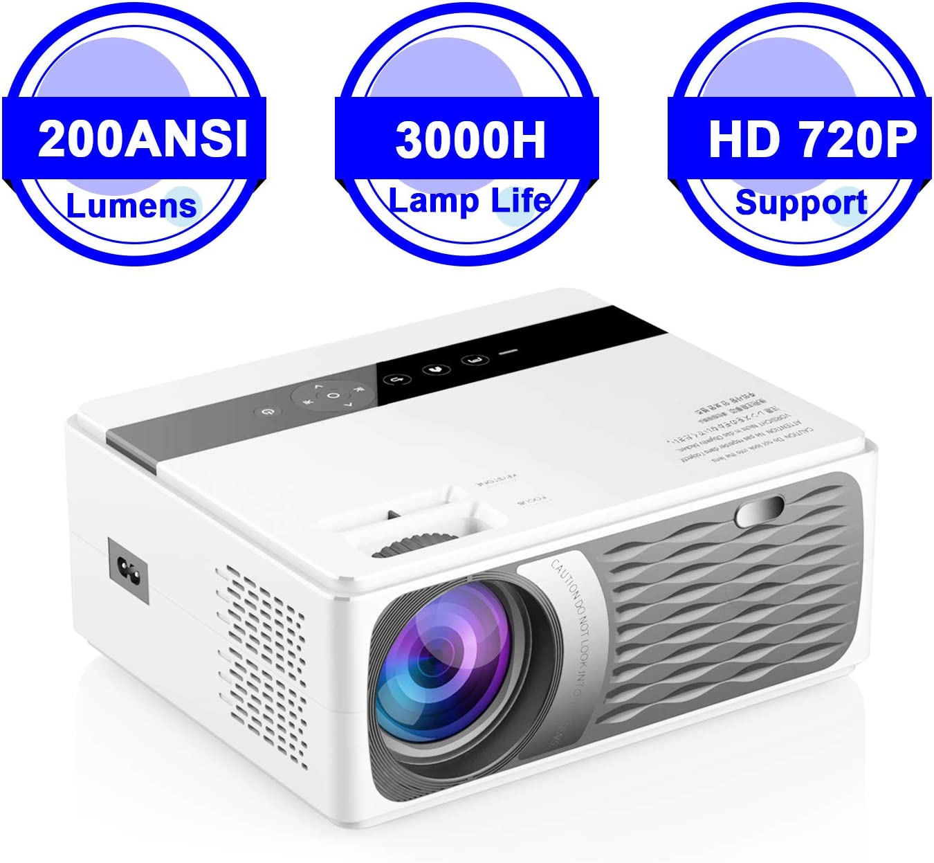Docooler CP600 Proyector LCD LED 1080P Home Theater 200ANSI ...