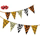 Safari Animal King of the Jungle Themed Bunting Banner 15 flags for simply stylish party decoration by PARTY DECOR