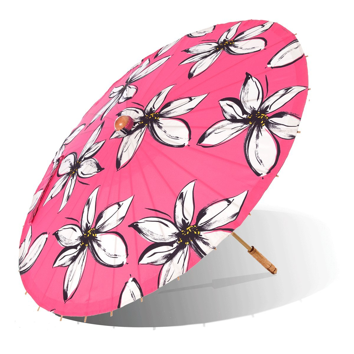 Lily-Lark Mod Flowers UV protection sun parasol, rated UPF 50+ by Lily-Lark