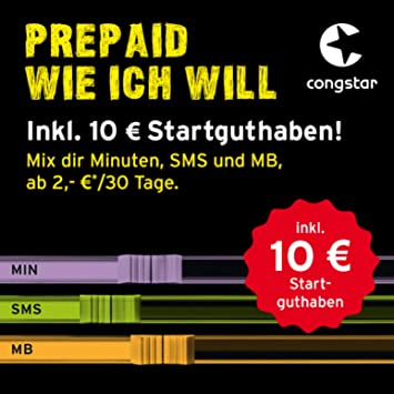congstar karte kaufen congstar Prepaid AllM Paket – Das: Amazon.de: Elektronik