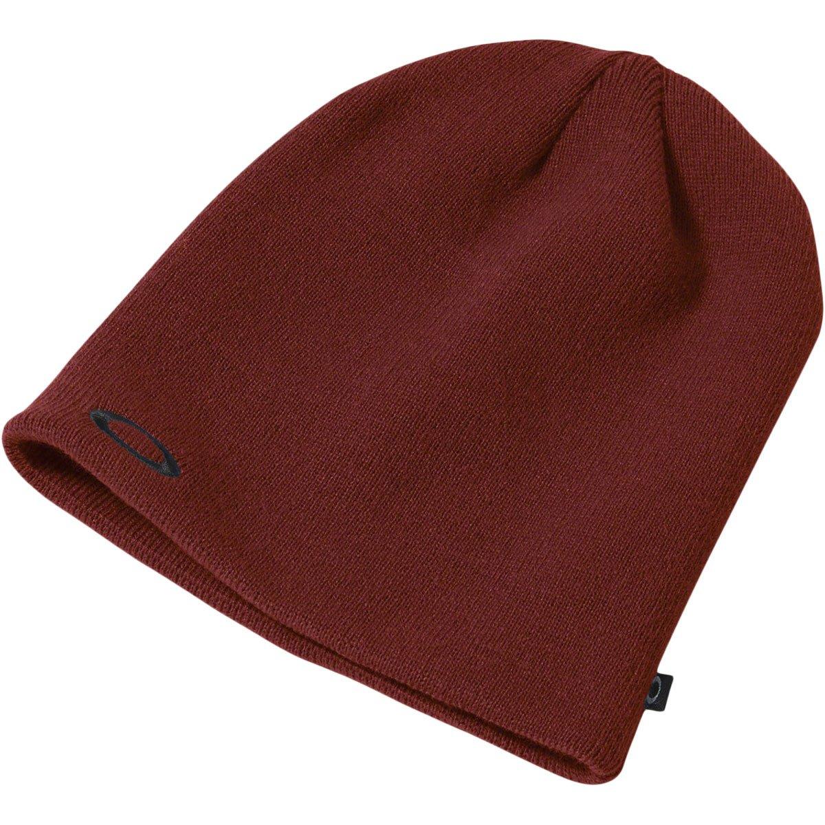 Oakley Fine Knit Beanie, Iron Red, One Size