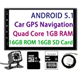 Panlelo Android 5.1 Car Stereo 7 Inch 2 Din Head Unit Quad Core RAM 1G ROM 16G GPS Navigation Auto Audio Radio 1080P Video Player Built in Wi-Fi BT AM/FM/RDS Steering Wheel Control
