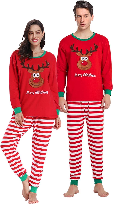 Matching Family Christmas Pajamas Boys Girls Elk Pjs Toddler Kids Children Sleepwear Baby Clothes Pyjamas Women XS