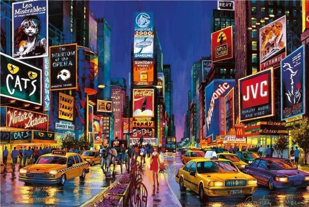 FFLFFL Puzzle para Adultos 6000 Piezas New York Square Juego de Rompecabezas de Madera para Adultos Juego de Rompecabezas para jóvenes Juguete de Regalo