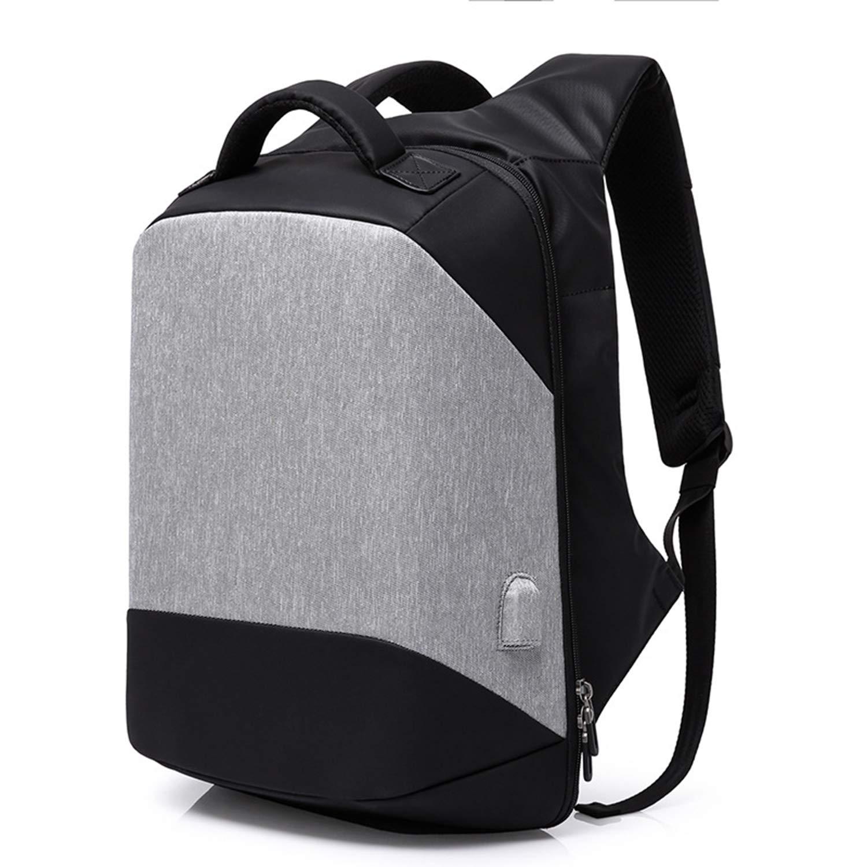 ショルダーコンピュータバッグ メンズオックスフォードビジネスラップトップバックパック レジャー旅行のバックパック USB充電ポート付学生バッグ アウトドアバックパック 180°開閉多層バックパック B07PV9LMMW A