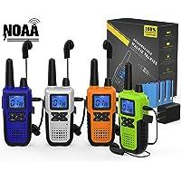 4 Long Range Walkie Talkies Rechargeable for Adults - NOAA 2 Way Radios Walkie Talkies… photo