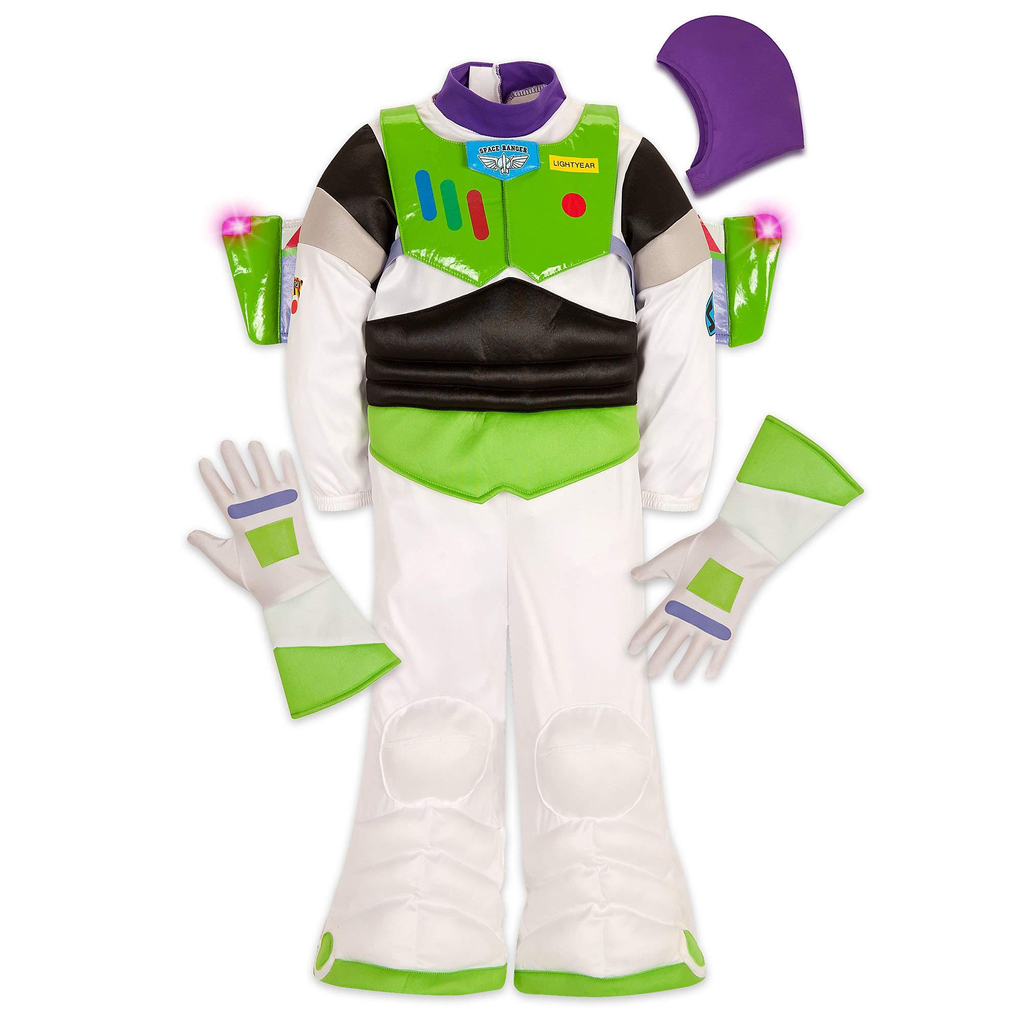 Disney Buzz Lightyear Light-Up Costume for Kids Size 4 White by Disney Pixar (Image #1)