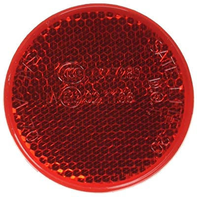 "Truck-Lite 45 Red 2-3/16"" Round Stick-On Reflector (Adhesive Backing, Mounts On Any Clean Surface): Automotive"