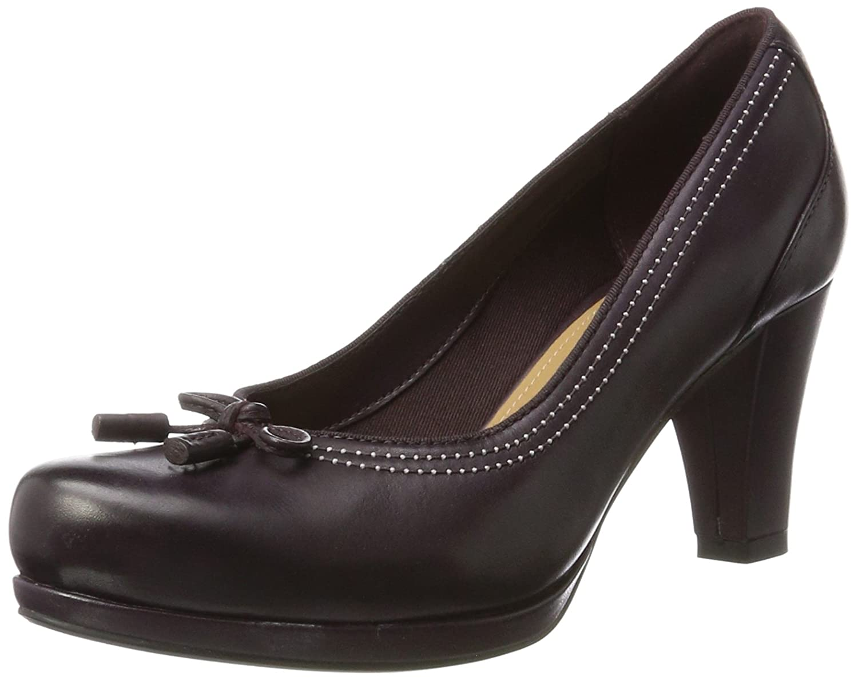 Clarks Chorus Bombay, Zapatos de Tacón para Mujer 38 EU|Morado (Aubergine Lea)