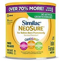 Similac NeoSure Infant Formula with Iron, For Babies Born Prematurely, Powder, 22.8...