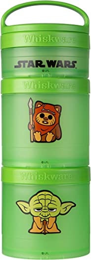 Whiskware C03686 Star Wars Stackable Storable Snack Pack, 2 1/3 cups, Ewok & Yoda
