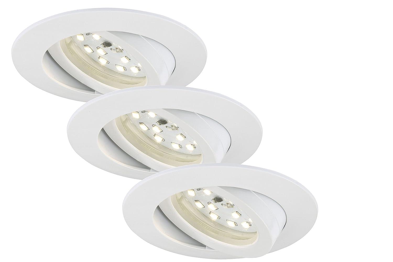 Briloner Leuchten LED Einbauleuchte, Einbaustrahler, LED Strahler, Strahler, Strahler, Spots, Deckenstrahler, Deckenspot, Lampen Wohnzimmer, LED Einbaustrahler 230v, Deckeneinbauleuchten, Einbaustrahler Set, schwenkbar, rund 9bf69e