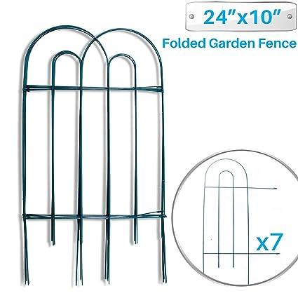 Amazon.com : Patio Paradise Garden Border Folding Fence 24 x 10-Inch ...