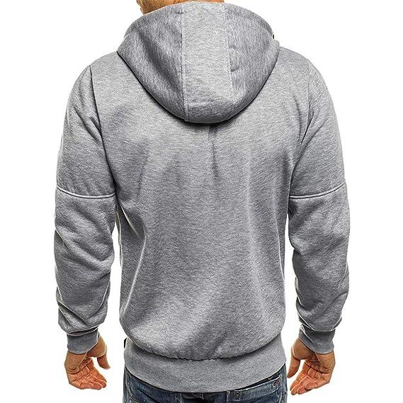 Chaquetas Hombre Invierno, ZARLLE Top Moda Moto Ropa Hombre Blusa Superior del Cremallera Ocio Deportes Cardigan Sudaderas De AlgodóN Hombre Chaquetas Y ...