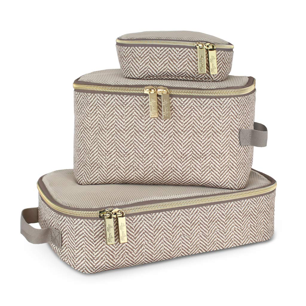 Amazon.com : Itzy Ritzy Packing Cubes - Set of 3 Packing Cubes or Travel  Organizers; Each Cube Features a Mesh Top, Double Zippers and a Fabric  Handle; Taupe : Baby