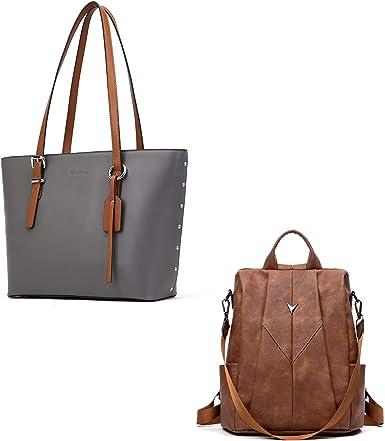 Ladies Designer Tote Shoulder Fashion Handbag PU Leather Work Bag