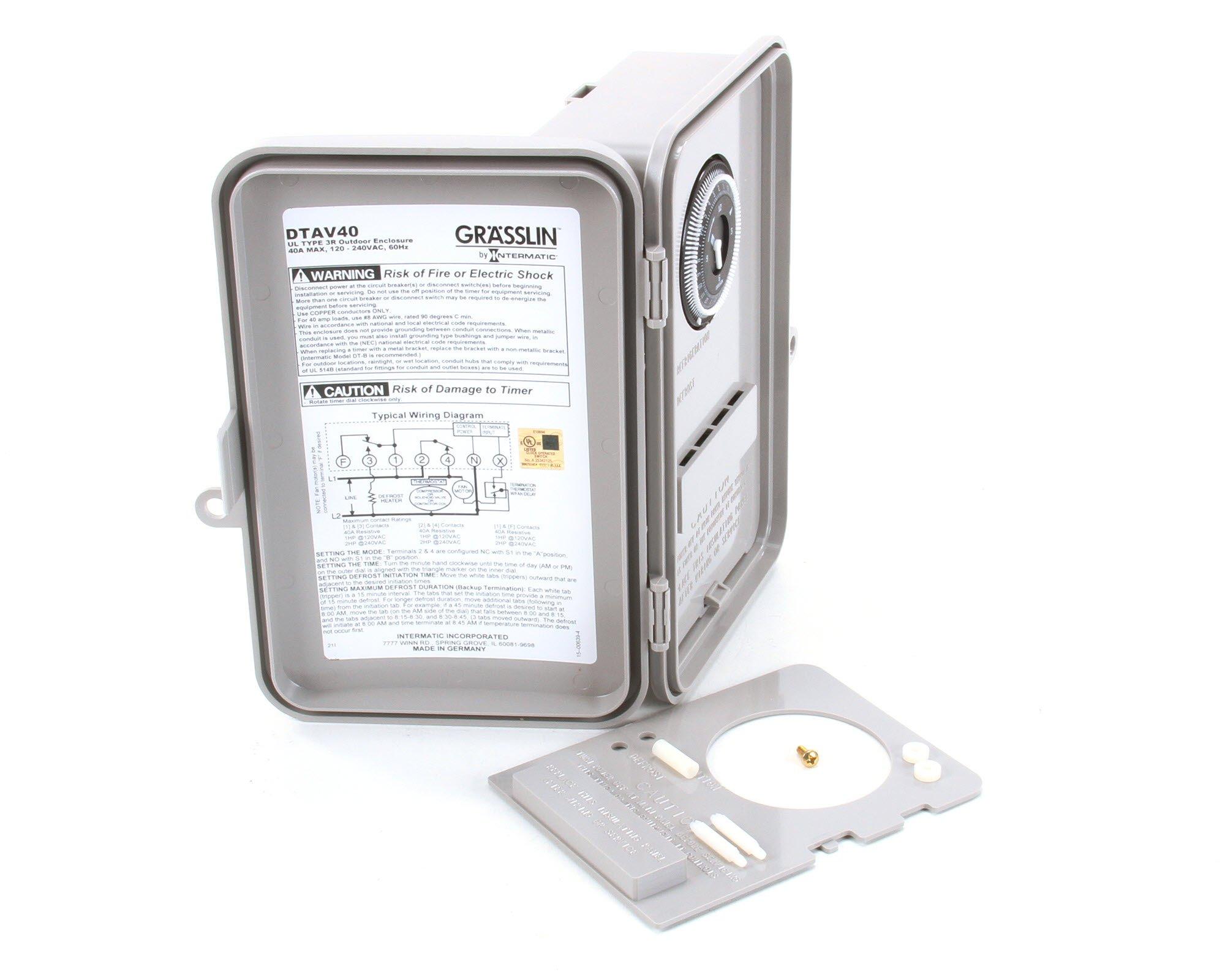 Grasslin DTAV40, Universal Defrost Timer by Grasslin