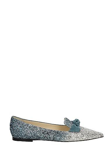 d0945387ce7 Jimmy Choo Ballet Flats Gabie Women - Glitter (GABIEFLATFBGSILVERDUSKBLUE)  7 UK