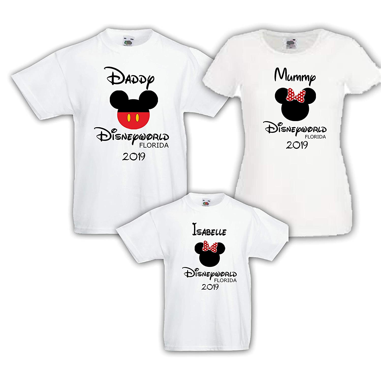 Minnie Personalised T-Shirt Disneyland World Disney Mickey Paris Florida S-XXL