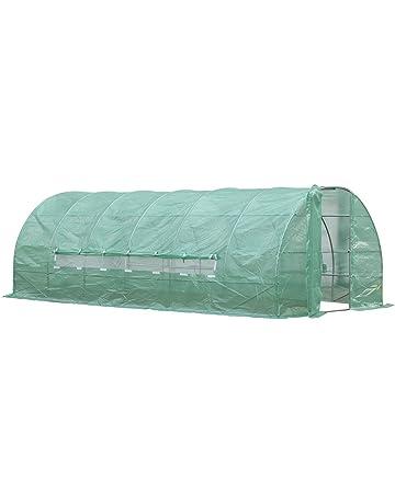 Outsunny Invernadero de Jardines y Huertos con Ventanas para Cultivos Plantas y Verduras 6x3x2m Cubierta de