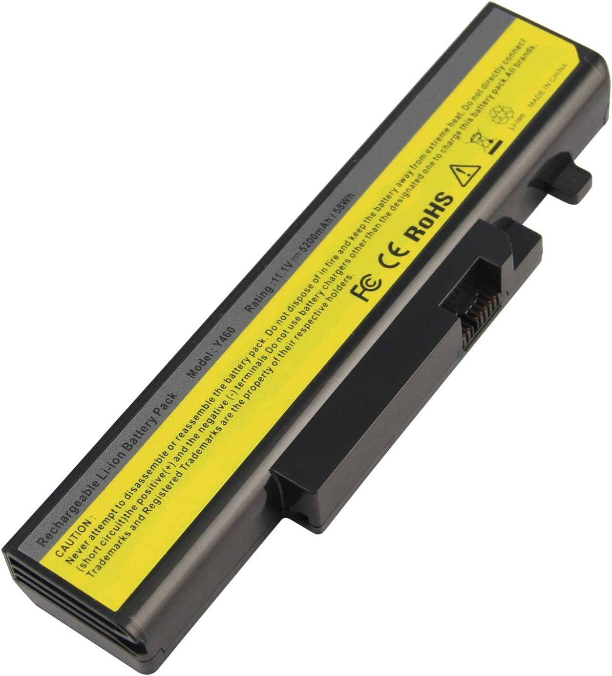 Futurebatt 5200mAh Li-ion Battery for IBM Lenovo Ideapad Y460 Y560 L09S6D16 57Y6440 6 Cell