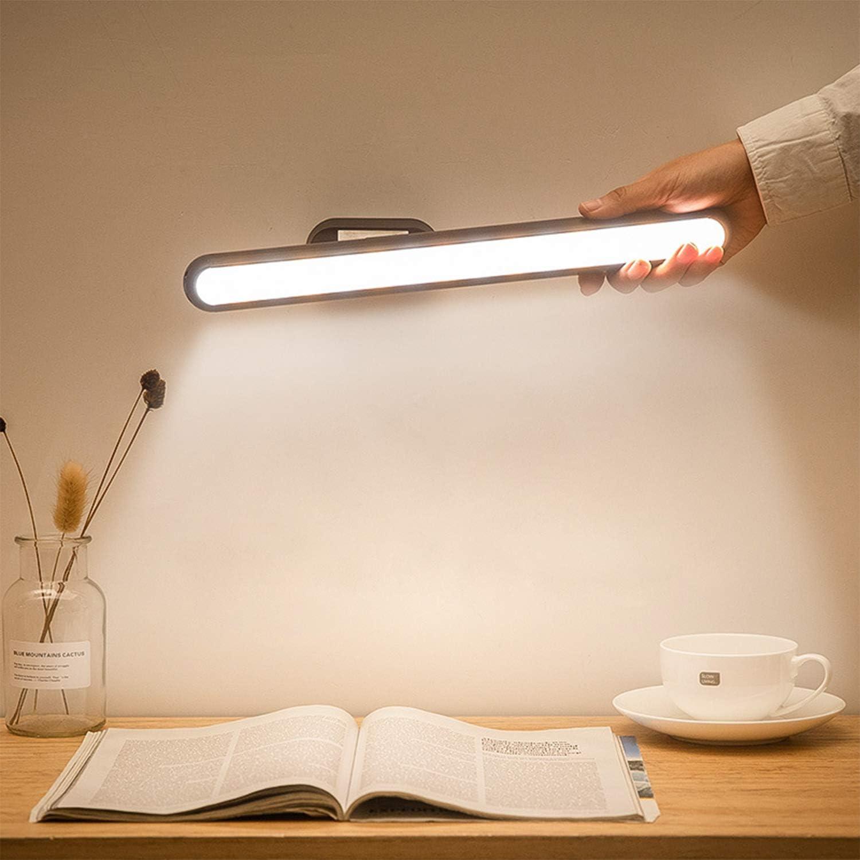 Semdisan Closet Light, Led Strip Light Under Cabinet, Bedside Wall Lamp, Rechargeable Battery Light Bar Adjustable Dimmable Brightness for Bedroom Kitchen Dorm Wardrobe