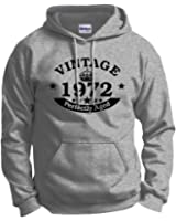 Birthday Gift Vintage 1972 Aged Perfectly Hoodie Sweatshirt