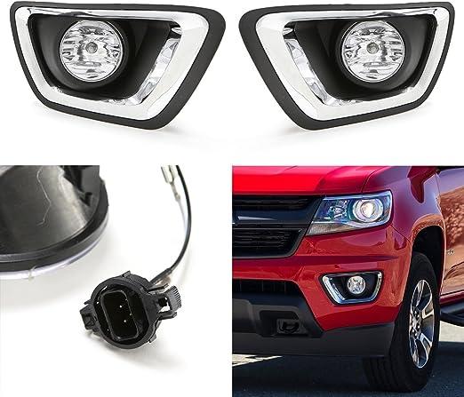 [SCHEMATICS_48IU]  Amazon.com: LEDIN For 2015 2016 2017 2018 2019 Chevrolet Colorado Chevy  Clear Lens Fog Lights Kit w/Bezel Bulbs: Automotive | Chevrolet Colorado Fog Light Relay Wiring Diagram |  | Amazon.com