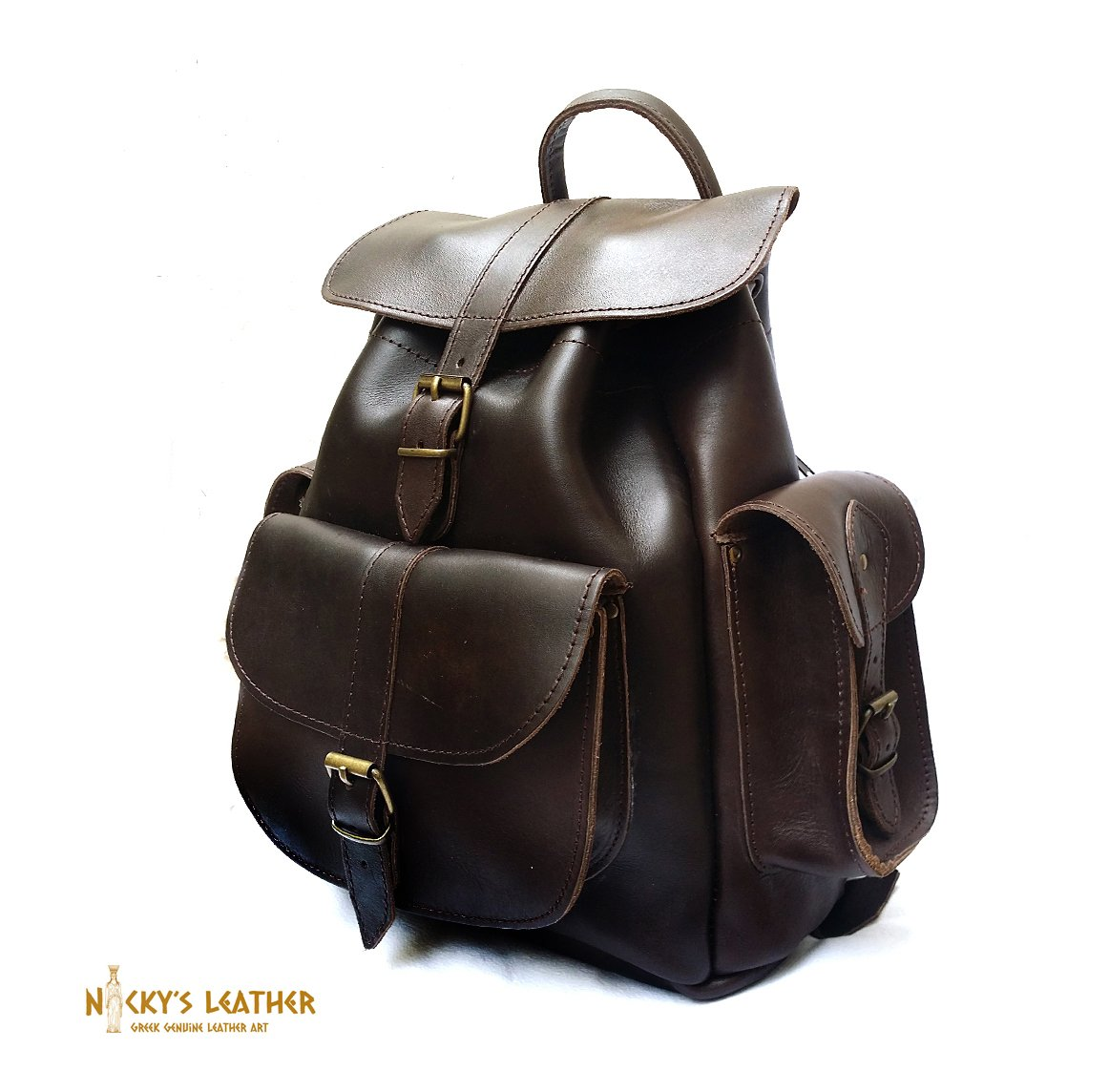 LEATHER BACKPACK Woman Backpack from Real Full Grain Leather