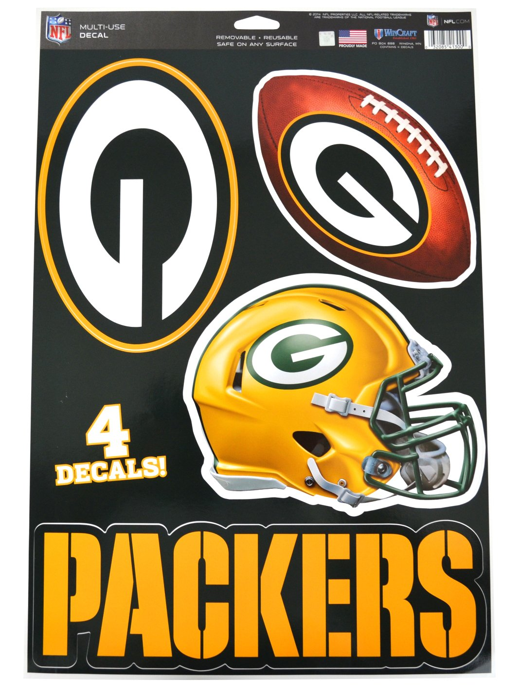new concept 01a44 de08c Official National Football League Fan Shop Licensed NFL Shop Multi-use  Decals (Green Bay Packers)