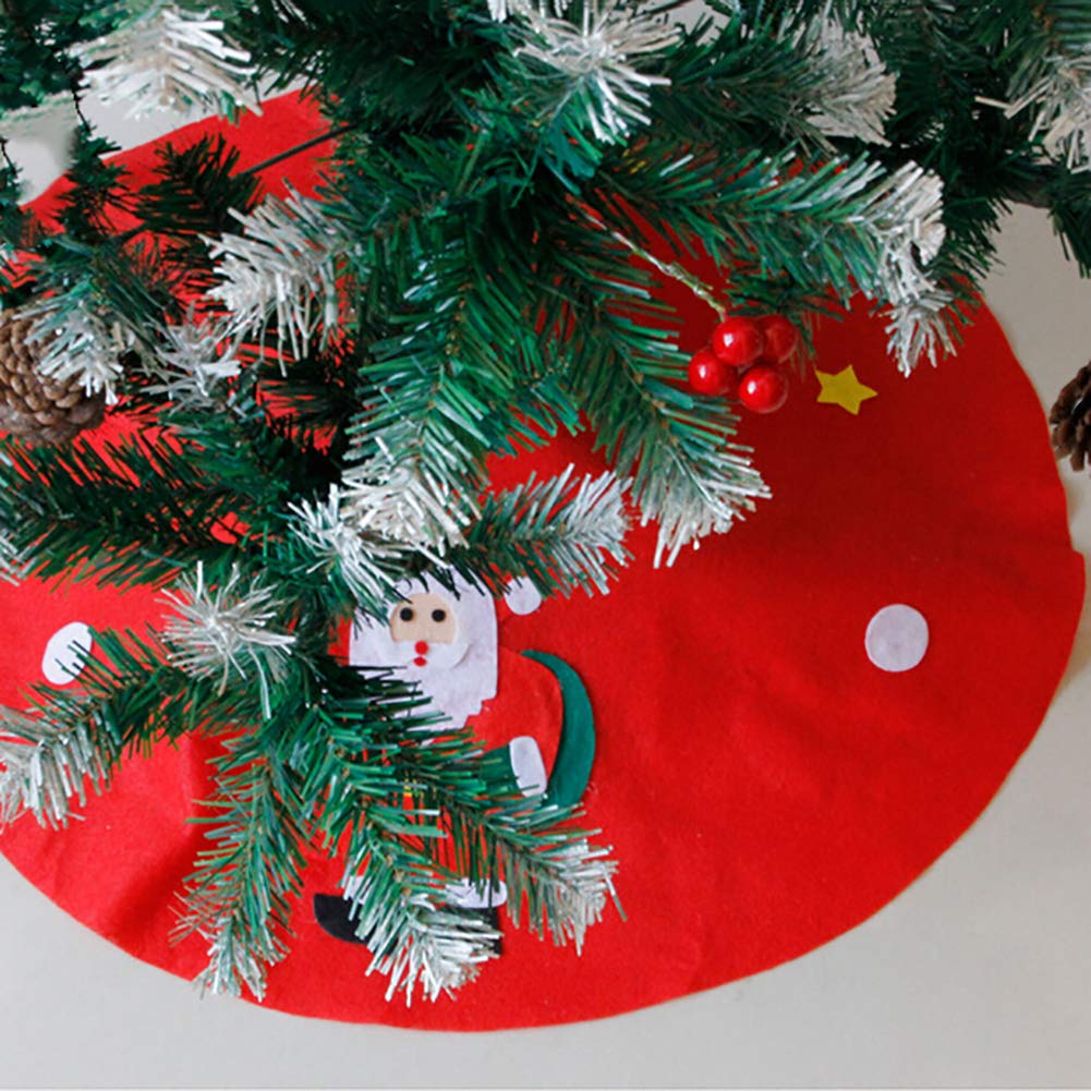Yinpinxinmao Christmas Tree Santa Snowman Style Floor mat.Ground Cover Apron Party Xmas Decoration Christmas Tree# L by Yinpinxinmao (Image #5)