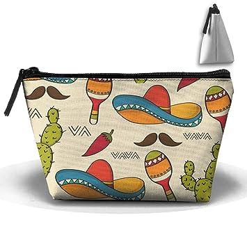2f329fc5ad1c Amazon.com : Mexican Sombrero Hat Cactus Waterproof Trapezoidal Bag ...