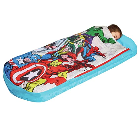 Marvel Vengadores Junior ReadyBed - Cama infantil hinchable y saco de dormir: Amazon.es: Hogar