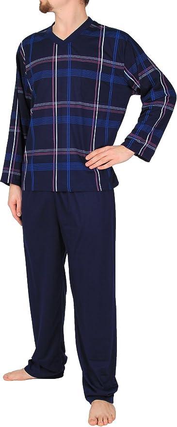 Herren Schlafanzug Pyjama Nachtw/äsche Nachtanzug Hausanzug aus 100/% Baumwolle M L XL XXL 3XL