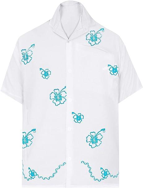 Shell de la Concha de Playa rayón Bordado Ocasional Nadar Camisa Hawaiana  para los Hombres  Amazon.es  Ropa y accesorios 692108bd915d3