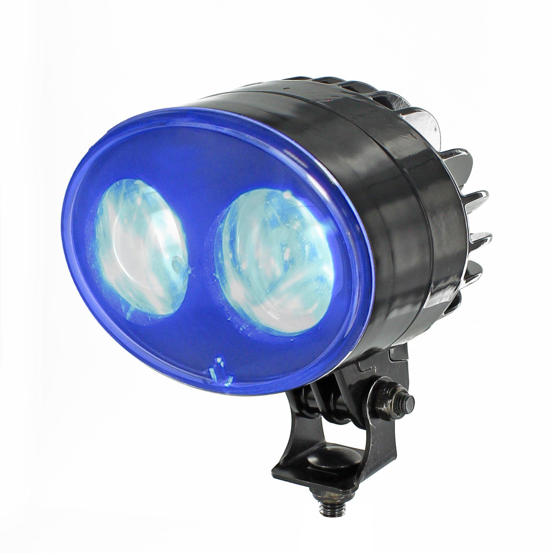 AZ SAFETY BS2 Blue Forklift Safety Light, 12-48V LED, 6'' Length, 4'' Height, 4'' Width, 9W