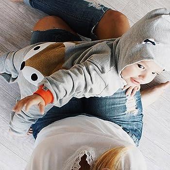 Kobay Neugeborene Kid Baby Stripe Fox Boys M/ädchen Kleidung Kapuzenpullover Overall Outfits