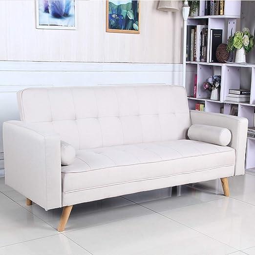 Sofá Cama 3 plazas Clic Clac Davao Beige tapizado con Tela ...