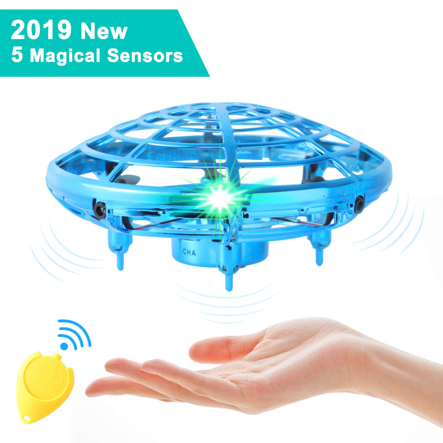Flying Toys for Kids,Mini UFO Drone,Hand Operated Drones with 5 Sensors and 2 Speed,Easy Indoor Outdoor Flying Ball Drone Toys,Great Flying Drone Gift for Boys/Girls,USB Charging and Remote Controller by semai