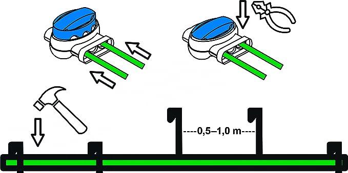 Installations-Set M Worx Landroid WR1* Kabel Haken Verbinder Installation Paket