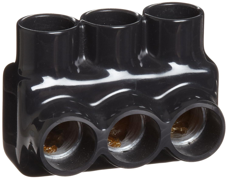 モリス製品97573ブラック絶縁マルチケーブルコネクタ - 単一エントリ3ポート750から250 B005GDFWTK