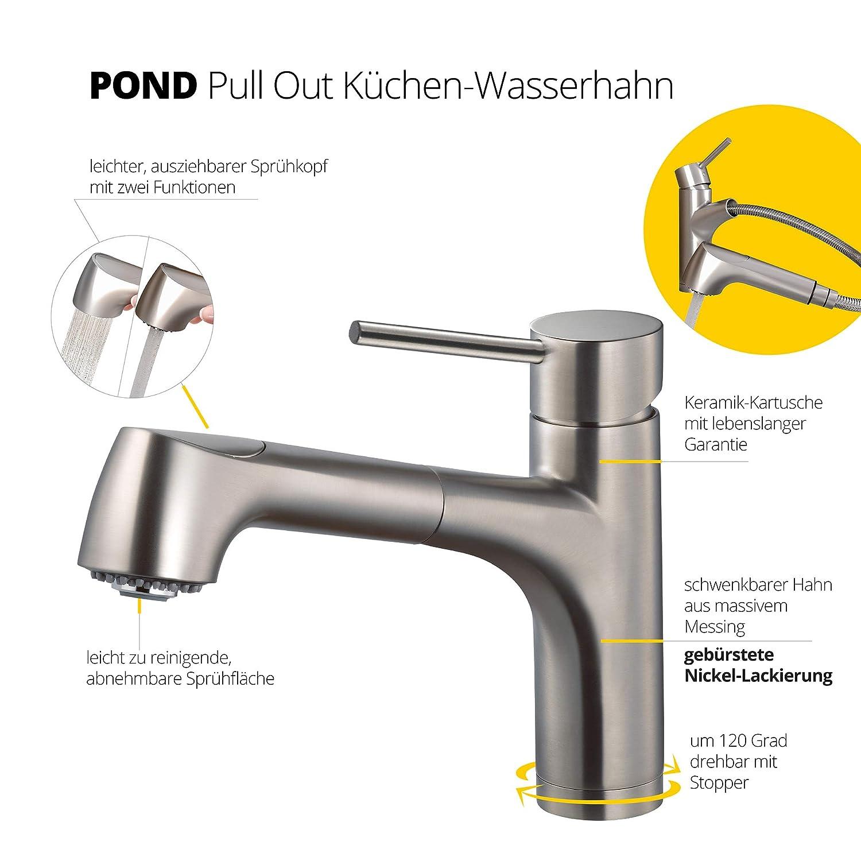 Hamat Ausziehbarer Wasserhahn K uuml che Hochwertige Sp ...