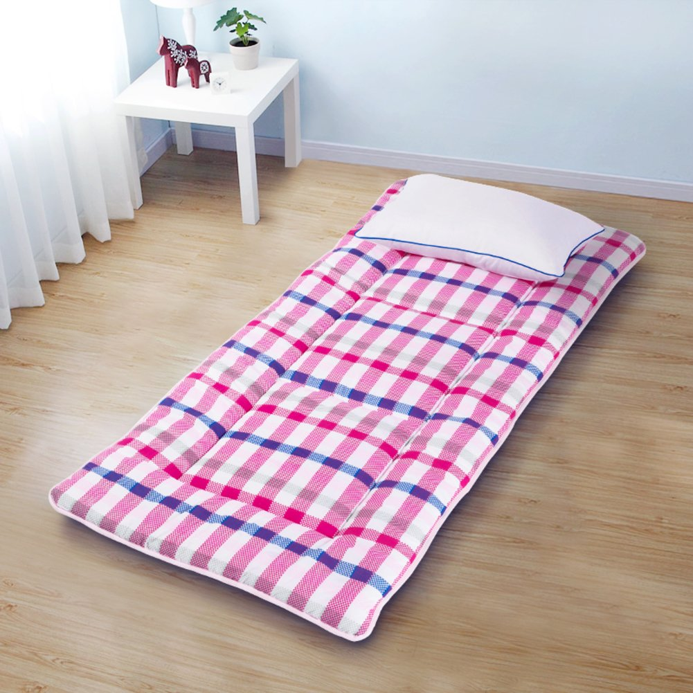 I 150x195cm(59x77inch) Bedroom Mattress Tatami mat Bed pad Grinding Fabric fold-Able Anti-Skidding 4.0cm Thick [Individual] [Double] for livingroom Student Dormitory Tents-E 120x195cm(47x77inch)